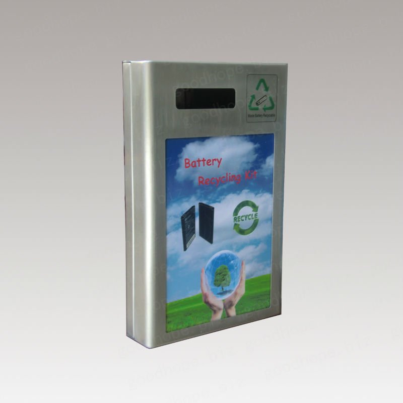 GH-B05-S wall mounted advertise function used battery recycle box