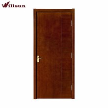 Groove decorative teak veneer semi core flush door and frame design