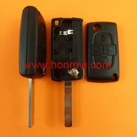 Citroen 4 button remote key blank with 307 blade ( VA2 Blade- With battery place ),citroen C4,C5 auto key,flip remote key