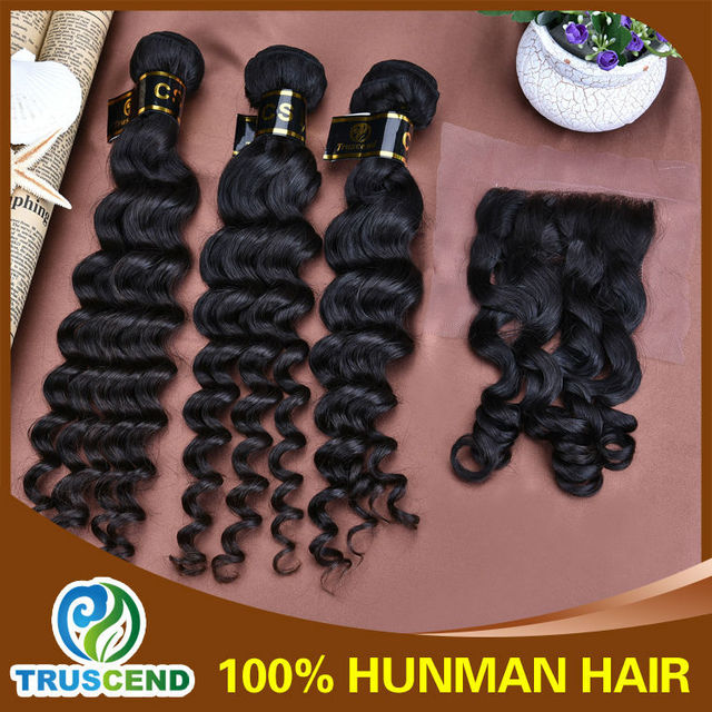 Exotic Hair Factory Outre Rank Favorable Price Loose Curly Lace Closure Virgin Hair