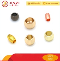 Quality Large hole metal beads for bag and clothing
