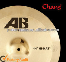 Deluxe Cymbal-AB-LING Series 14'' Bronze Hi-hat cymbals