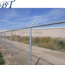 9 gauge heavy duty Galvanized chain link mesh fencing with barbed wire