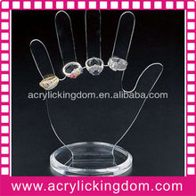 Hand shape acrylic finger ring display