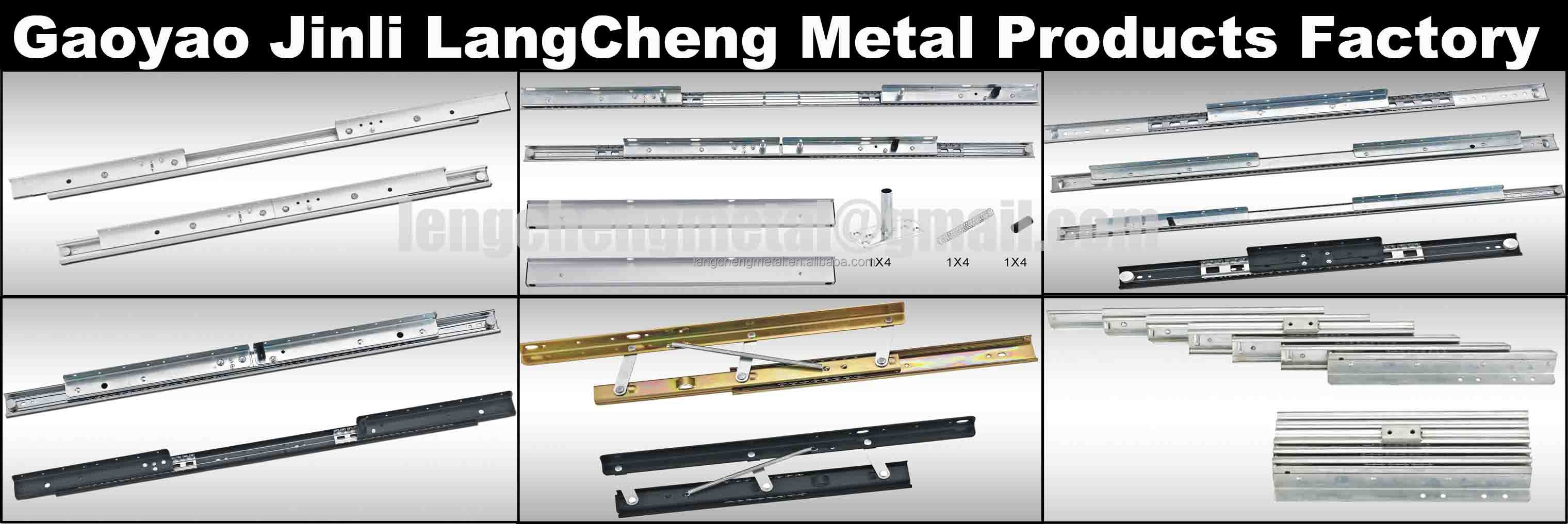 Steel ball-bearing dinner table slide telescopic channel