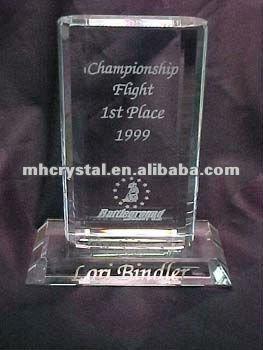 Rectangle Crystal Frame Trophy Award Plaque MH-J0527