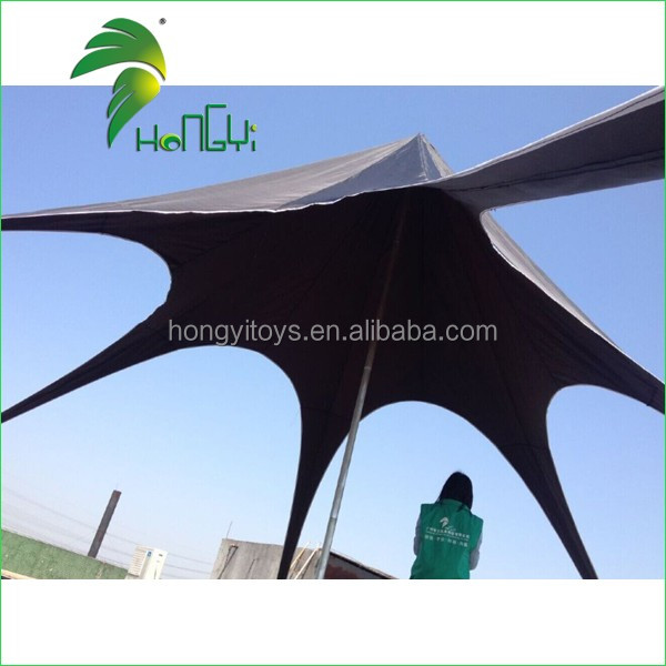 High Quality Outdoor Pop Up Star Shape Tent , Diameters 8M Black Star Shape Tent For Sale