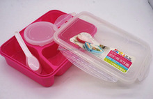 Food Use and Plastic 3 Compartment Bento Lunch Box Containers