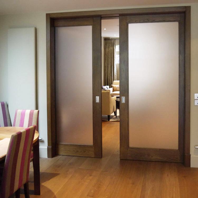 quality exterior oak wooden pocket doors on sale
