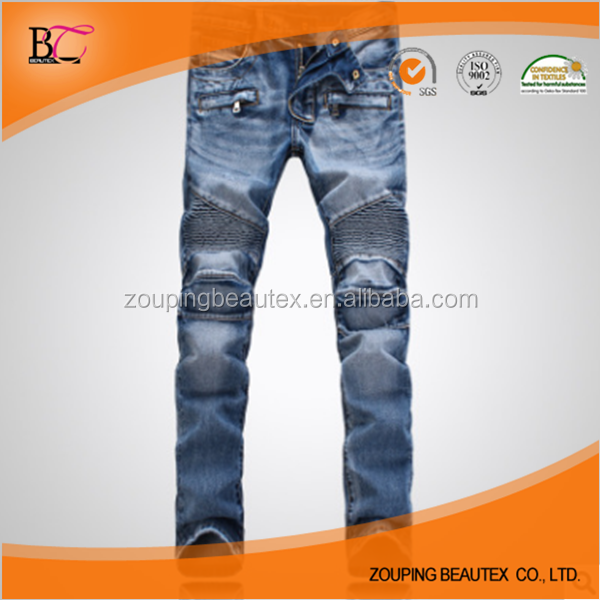 Low tide washed stretch feet biker jeans