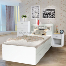 high quality wooden bed with storage