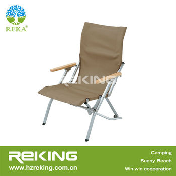 Newest Folding Relaxing Chair with Wood Armrest