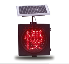 solar power Red Flashing Slow-driving Traffic Light factory