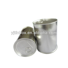 empty tinplate container for flower vegetable seed cans with easy open lid