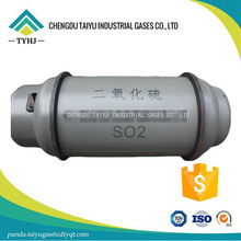 Industry grade 99.9% gas SO2 in cylinder