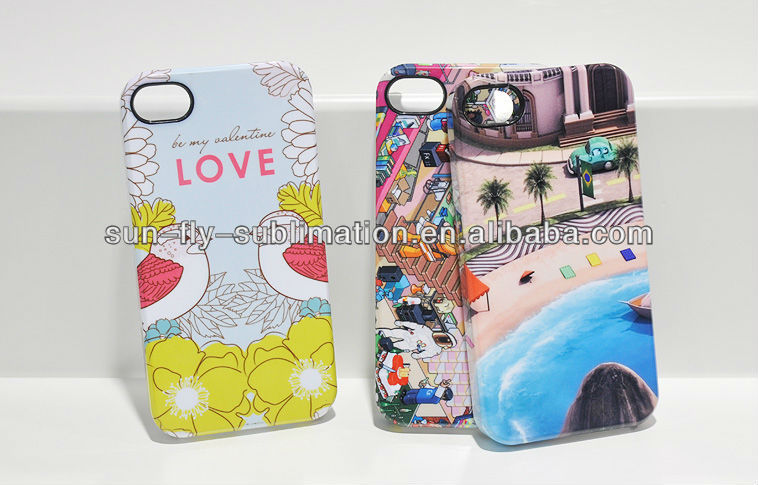 3D sublimation case for APPLE I4/ 3D sublimation cover /3D sublimati BLANK phone cover