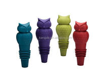 Champagne and Beverage Bottle Stoppers,silicone owl toppers,novelty wine bottle covers