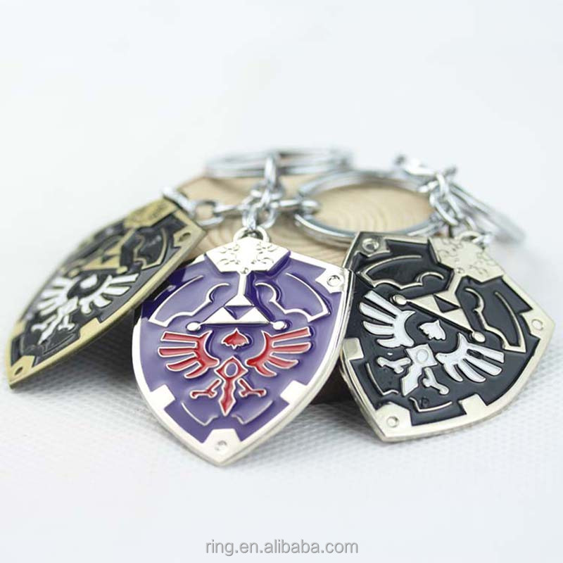 Symbol Pendant Jewelries The Legend Of Zelda Shield Key Chains