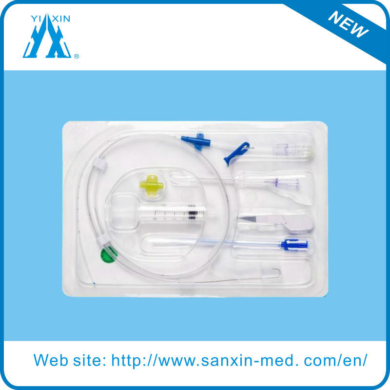 Implanted portand central venous catheter