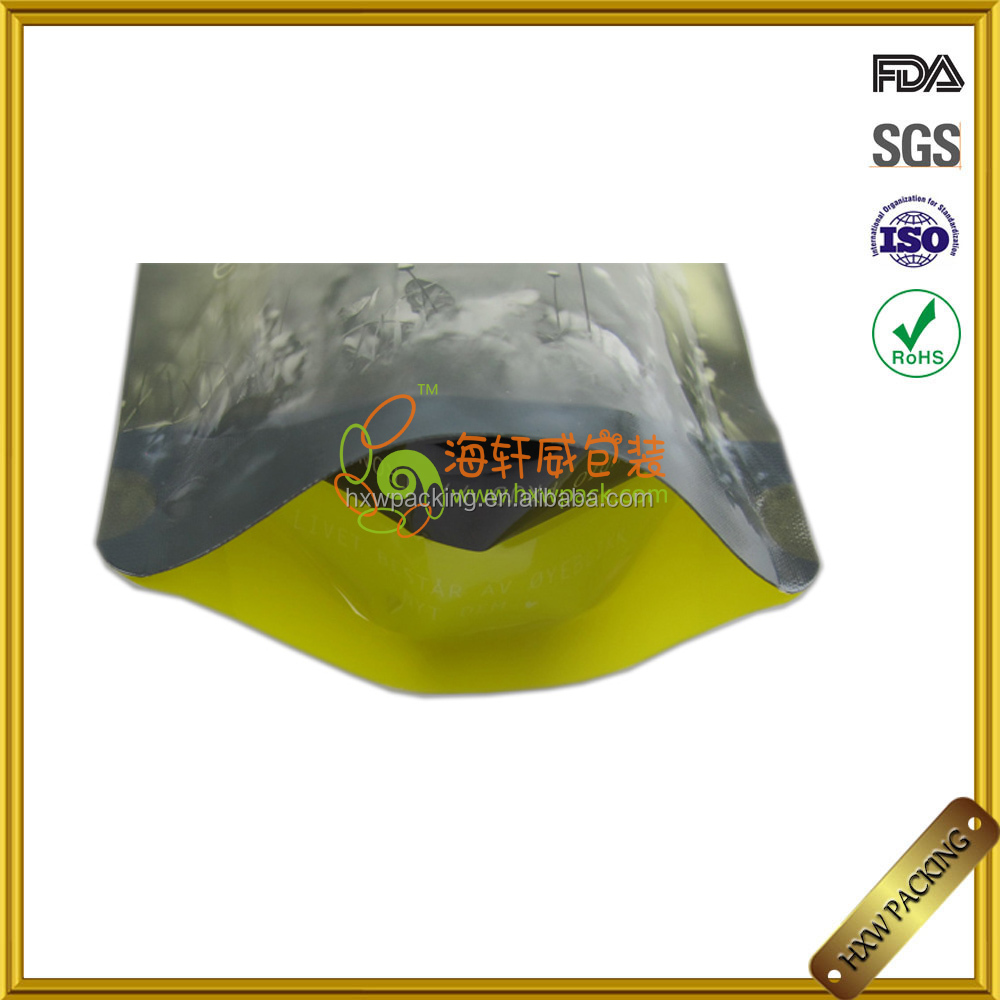 strong waterproof water bag spout plastic stand up pouch with ziplock and custom design logo