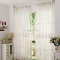 Fire retardant sheer fabric for white french lace curtains