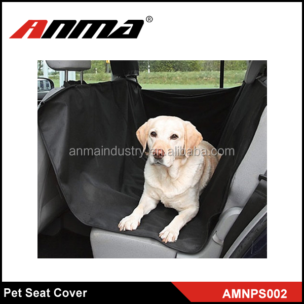 Black foldable Dog Car Seat Covers