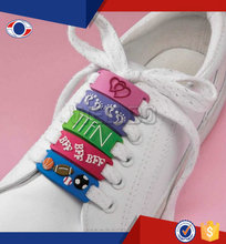 Guangzhou custom pvc shoelace charm for shoes accessories