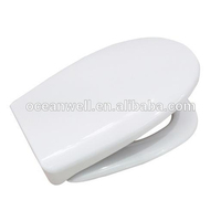 Duroplast toilet seat cover with soft close and quick release functions for bathroom