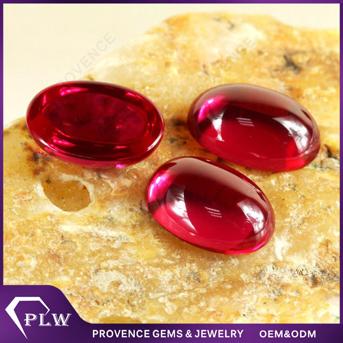 Factory Price Oval Cut AAAAA Red Ruby Natural Gemstones