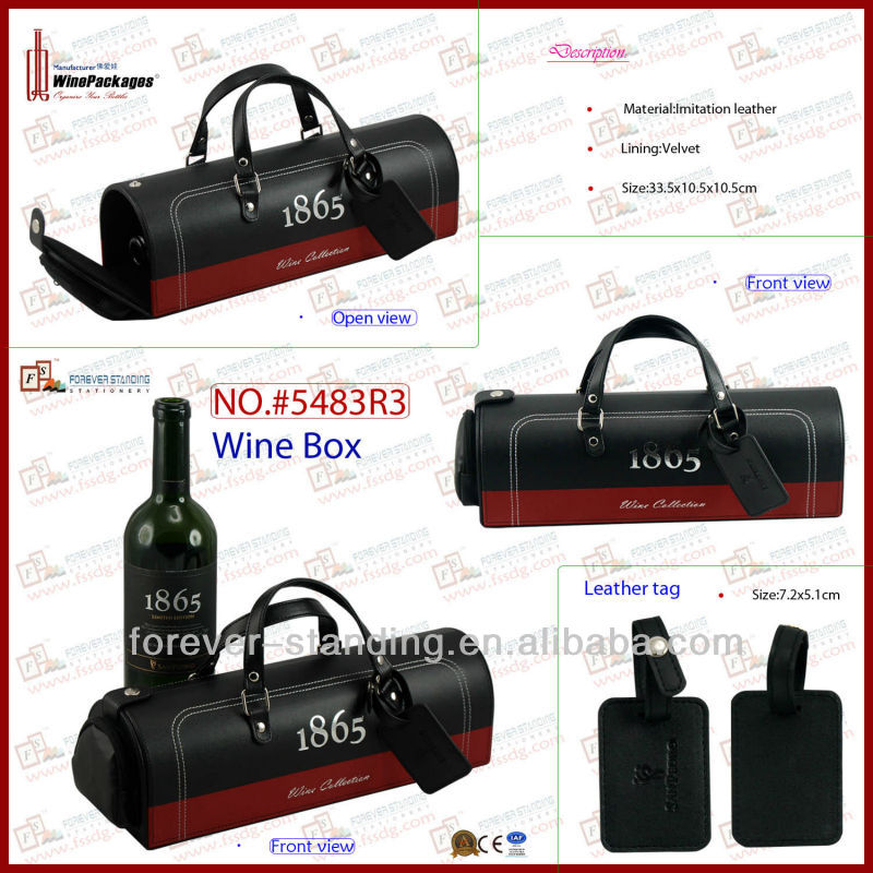 Eco-friendly Leather Package Paris Wine Pack carrier