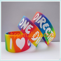 I love One Direction 1D wristband,promotion gift,silicone bracelet