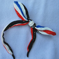 Strip Fabric Rabbie Ear Wire Metal Plastic Headband