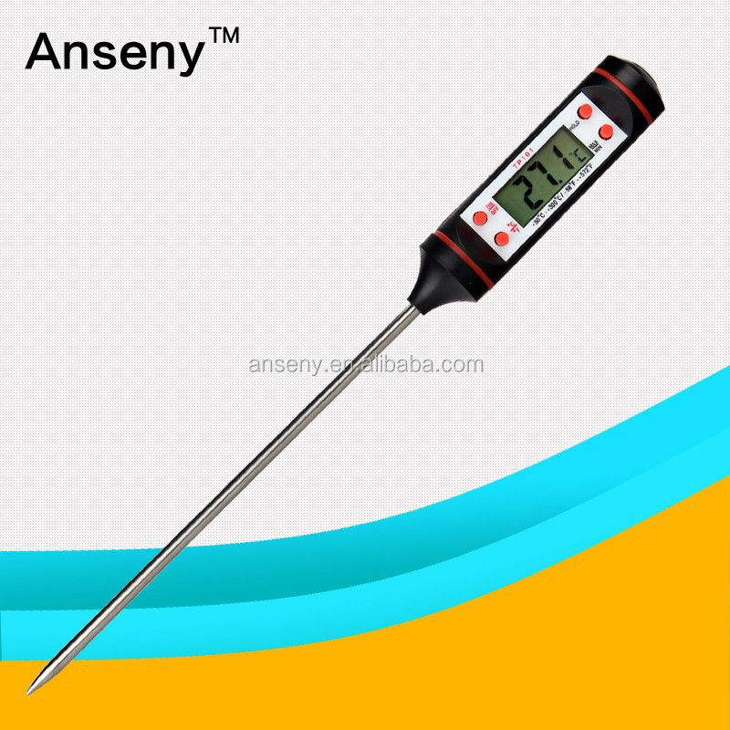 New hot Digital Cooking Food Meat Probe Thermometer LCD BBQ thermometers WHOLESALE Remote Wireless BBQ Thermometer