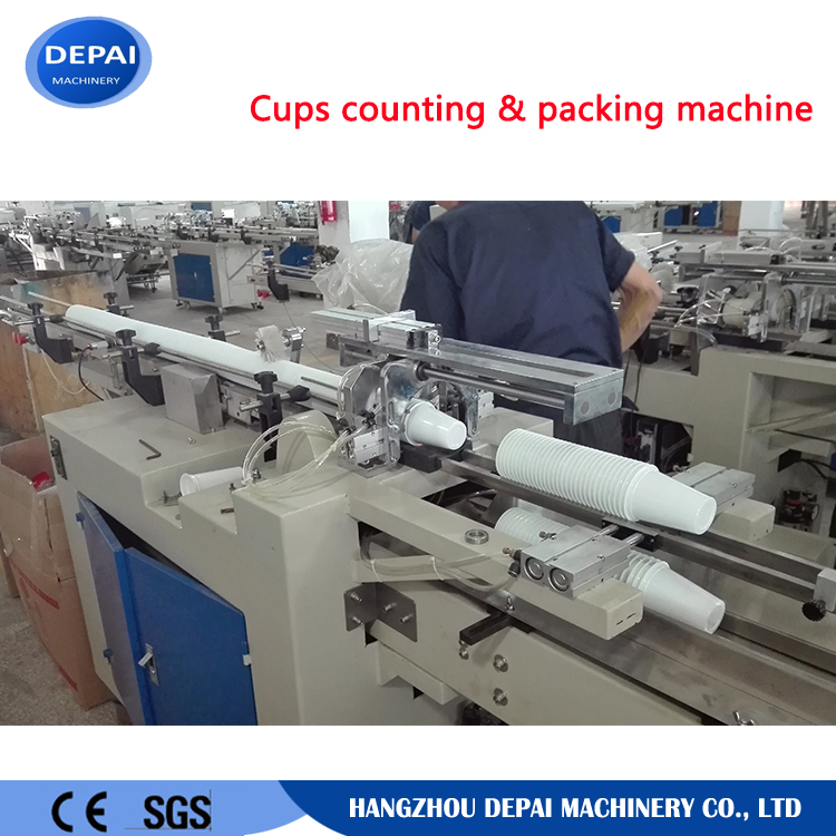 Plastic Cup Counting Packing Sealing Machine