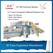 Hebei shengli high speed high quality automatic 5 layer cardboard production line for corrugated cardboard making