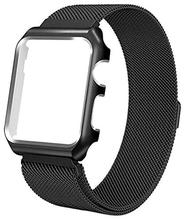 Tschick Milanese Loop Replacement Band With Metal Protective <strong>Case</strong> For Apple Watch Strap Series 4/3/2/1 38mm 42mm 40mm 44mm