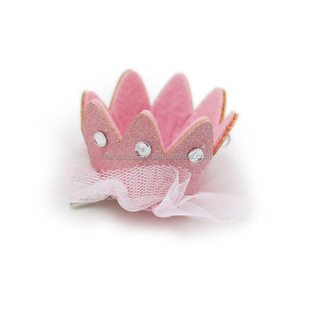Cute Baby Glitter Crown Hair Clip Fashion Hair Accessories for Kids