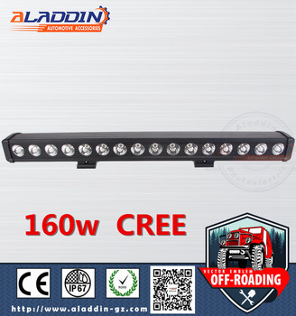"29"" 10-30V C-ree lamp chip single low 160W off road car for Deutsch connector"