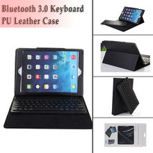 New 2014 wireless keyboard case for ipad Air iPad 5 Tablet Leather Case Bleutooth Kyeboard