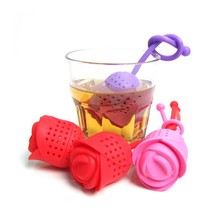 BPA Free 100% food grade Silicone Rose Flower tea infuser