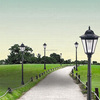 1.92m off-grid leisure solar post lamp landscape lighting for outdoor /street /garden/countyard