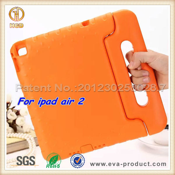 Perfect handle shockproof eva foam for Apple iPad Air 2 tablet case