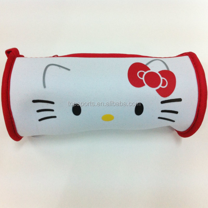 Neoprene Hello Kitty Shape Cute Pencil Case / Pouch for teens