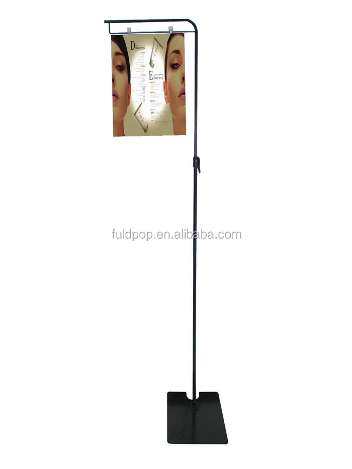 Durable powder coated telescopic metal display stand