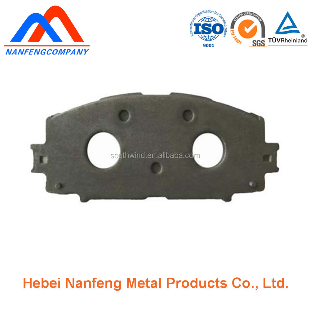CNC stamping punched hole semimetal car brake shoes