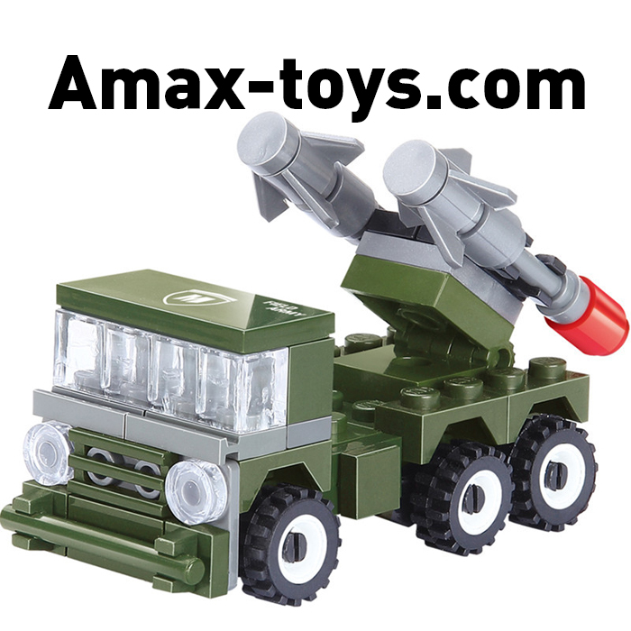 14880004-Patriot missile Military Series Building Blocks action & toy figures Assembling Missile launching vehicle toys