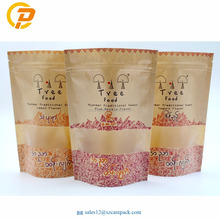 Custom Printed Resealable Candy Packaging Kraft Paper Bag With Window