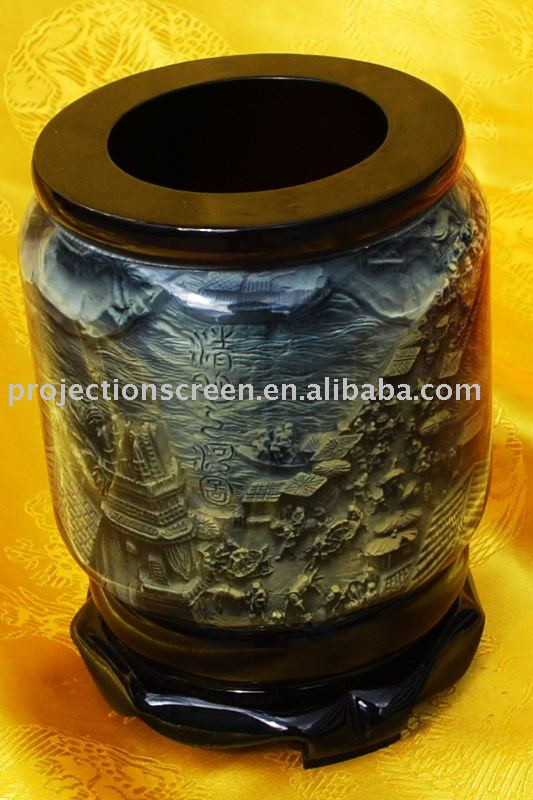 Brush Pot (inner with Riverside Scene at Qingming Festival photo)