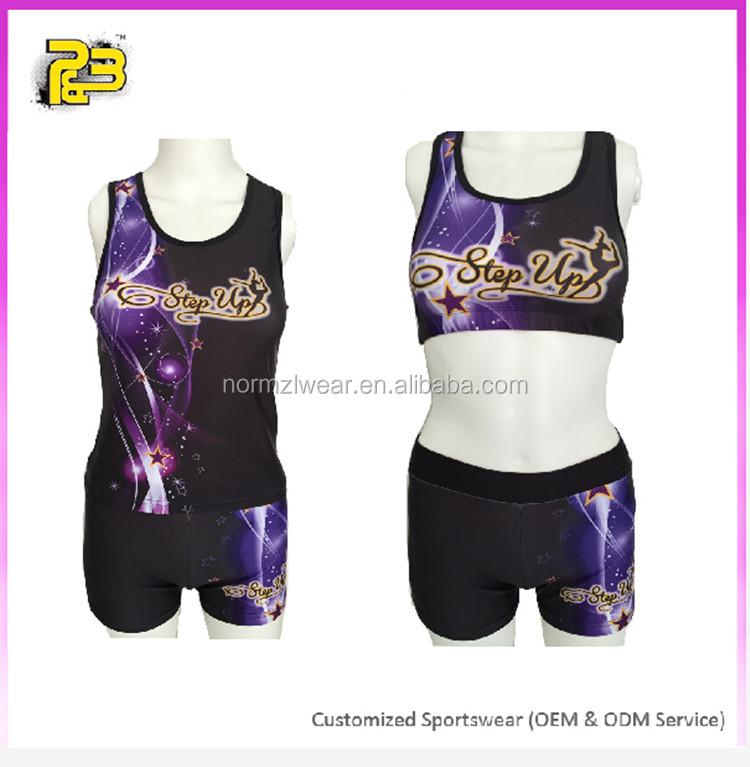 Normzl latest cheerleading wear high quality custom different kinds of sports wear wholesale