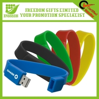 Fashion Custom Silicone Bracelet USB Flash Drive
